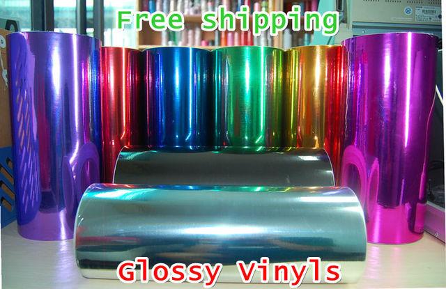 HQ AIR DRAIN 60cm*150cm Glossy Chrome Vinyl Film