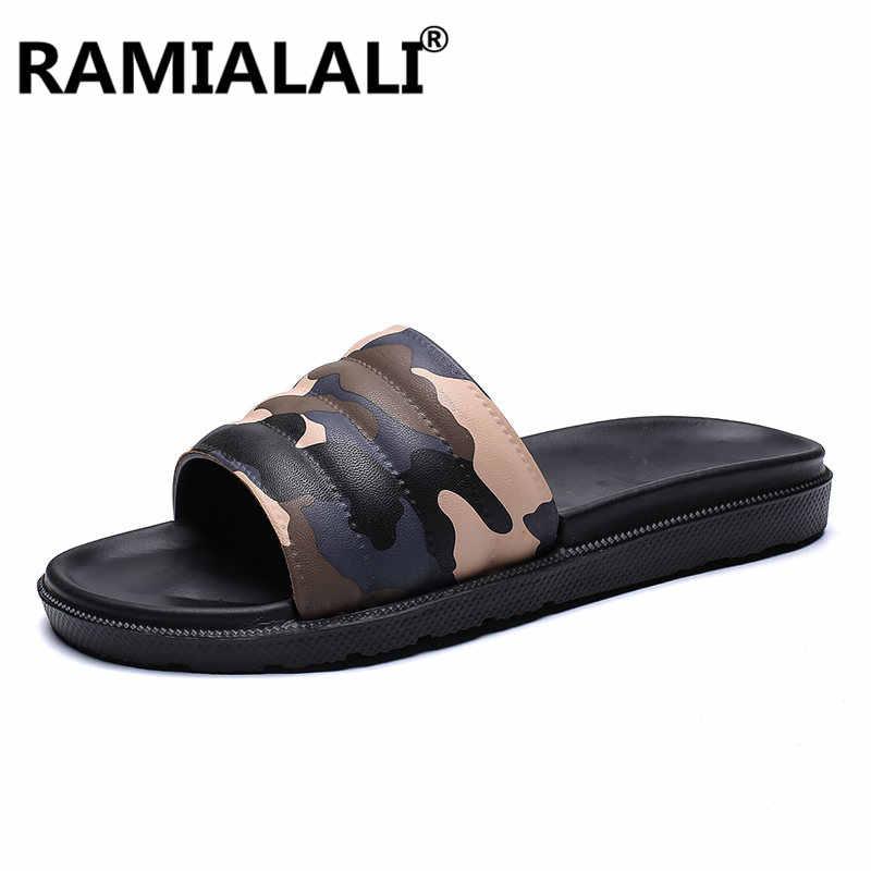 Zomer Mannen Slippers Mode Mannelijke Zachte Strand Schoenen Klassieke Camouflage Mannen Flip Flops Schoeisel Casual Slides Sandalias Zapatos