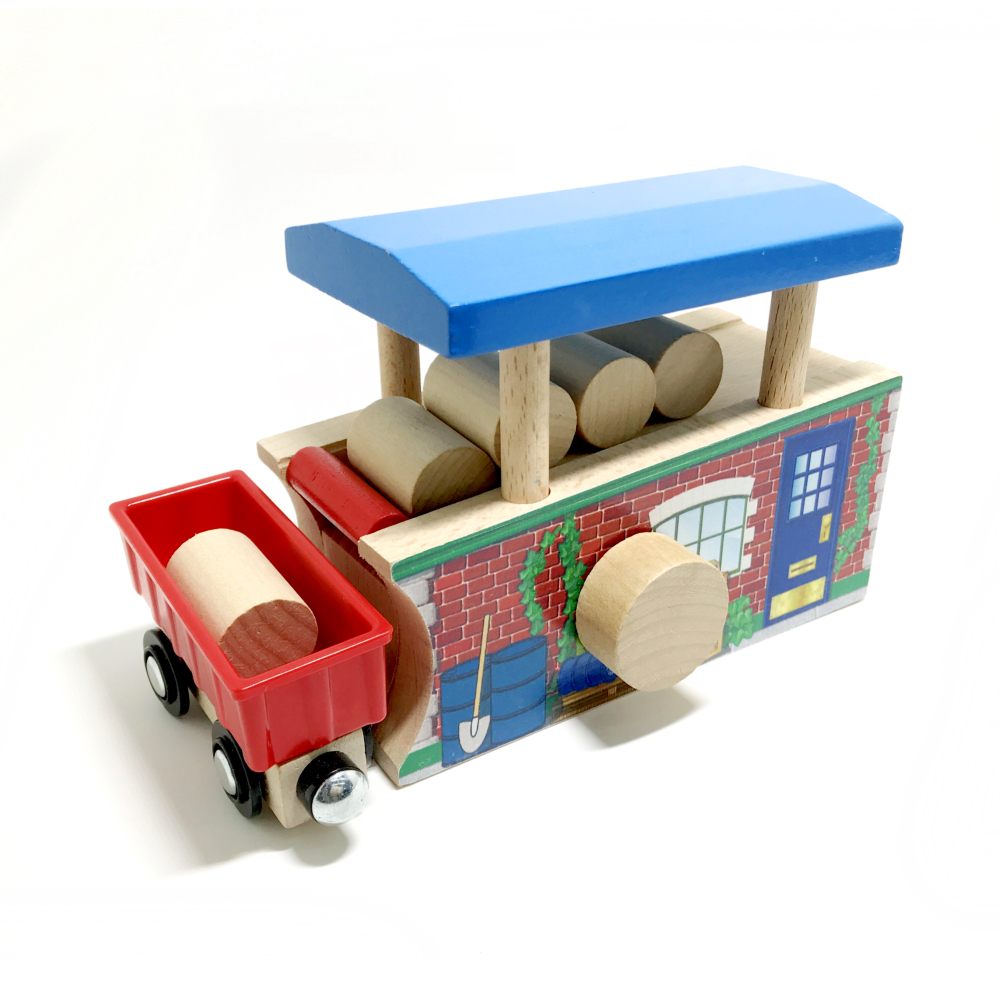 P142 Wooden Thomas bulk train track accessory, loader, wooden track bulk accessory, compatible with wooden Thomas train track