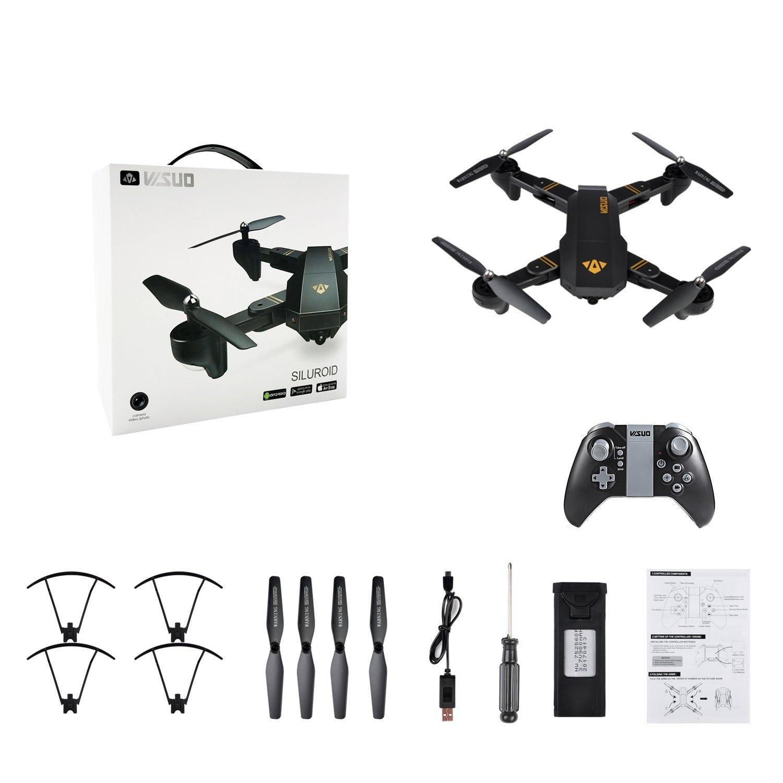 TIANQU XS809W Drone RC pliable RTF WiFi FPV g sensor Mode hélicoptères RC quadrirotor un retour de clé - 6