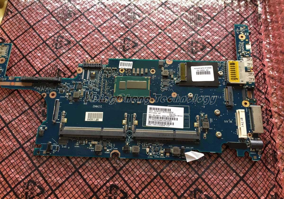 SHELI laptop Motherboard For hp 720 820 G1 730558-001 i5-4200U DDR3 integrated graphics card 100% fully tested