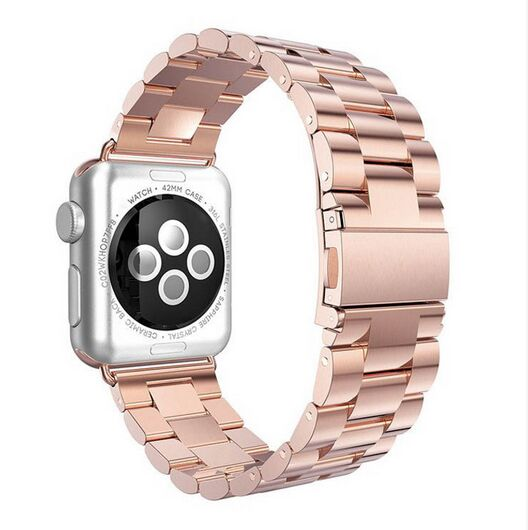 4 colour fashion rose gold metal steel watch band loop