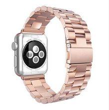 4 Цвет Мода розовое золото Металл сталь смотреть band loop ремешок браслет для Apple watch 38 мм и 42 мм с Разъемами адаптеры