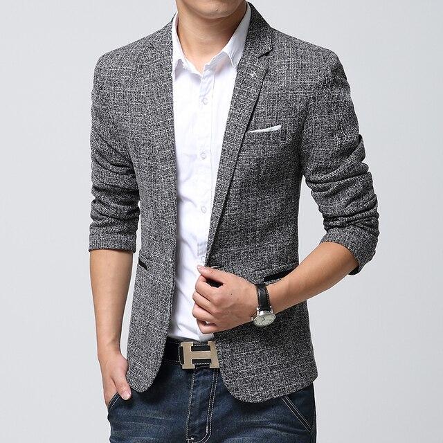 2016 новое прибытие блейзер мужчины, повседневная мужская белье костюмы куртка мужчины, с длинным рукавом тонкий блейзер masculino, мужская смокинг куртки