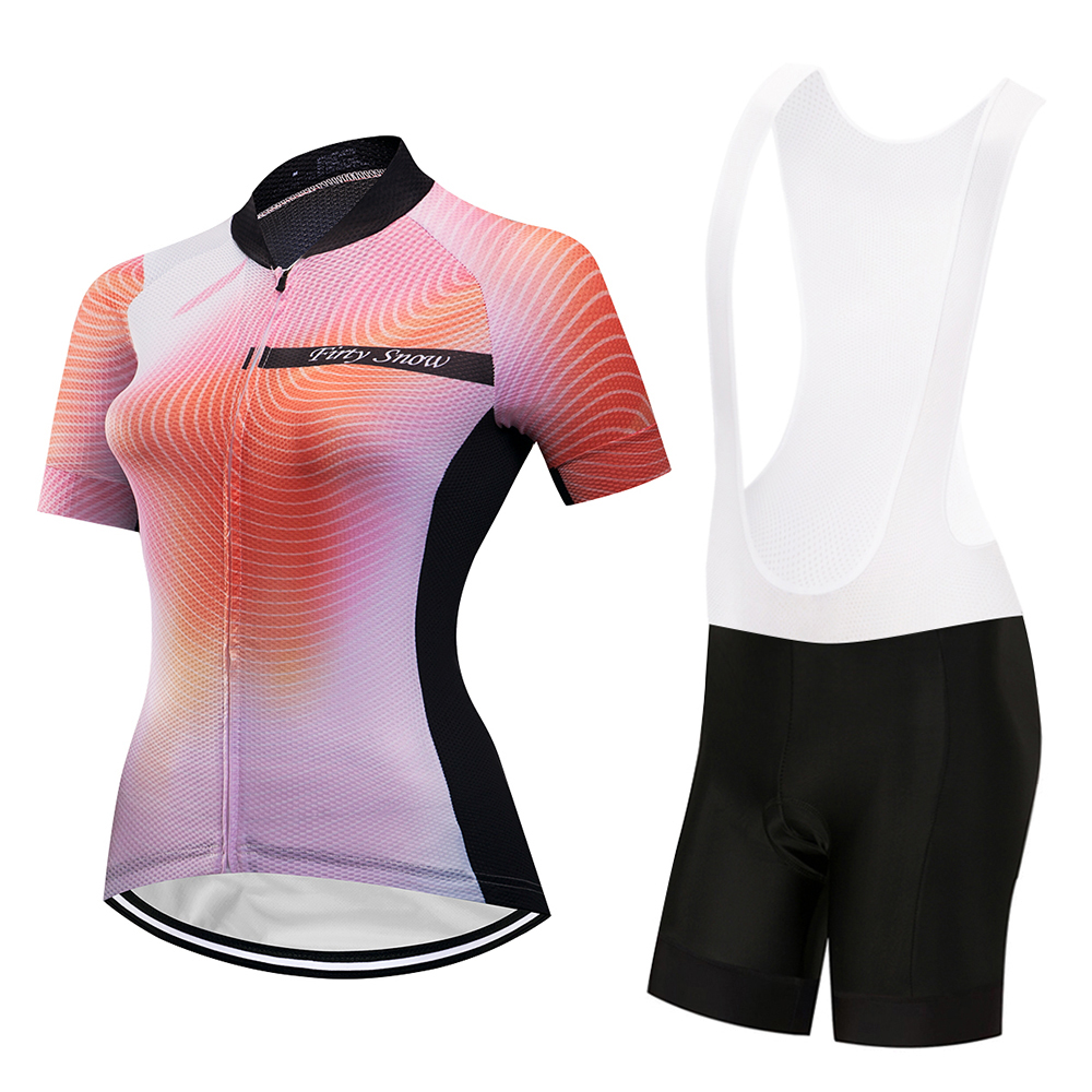 Firty snow Summer Womens Cycling Jerseys MTB Bike Shirts Racing Clothings Riding Garment Bicycle Top And Short ropa ciclismo