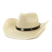 a90250b278ec1 Men s Western Cowboy Hat Hat Man and Lady Outdoor Seaside Beach Hat Sun Visor  Cap Dad s
