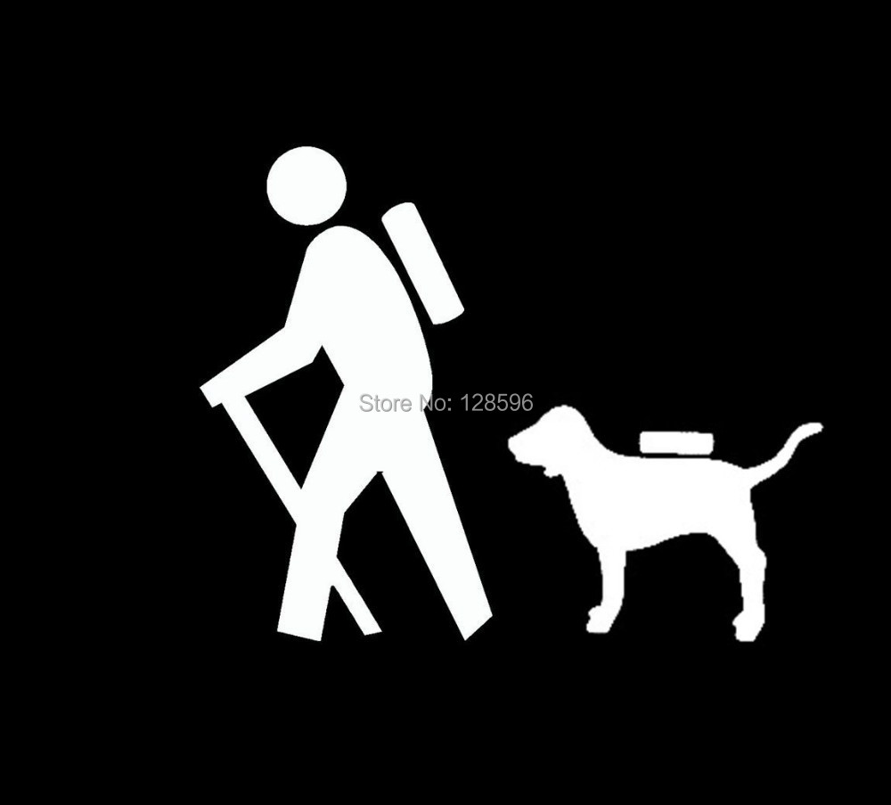 HIKER HIKING DOG BACKPACK CAMPING FAMILY Sticker For Car Window Vinyl Decal TRUCK SUV LAPTOP In Stickers From Automobiles Motorcycles On