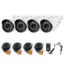 Hotting AHD Camera 4PCS 1.0MP CMOS IR Night Vision CCTV Camera Home Security System Outdoor Waterproof Surveillance Camera