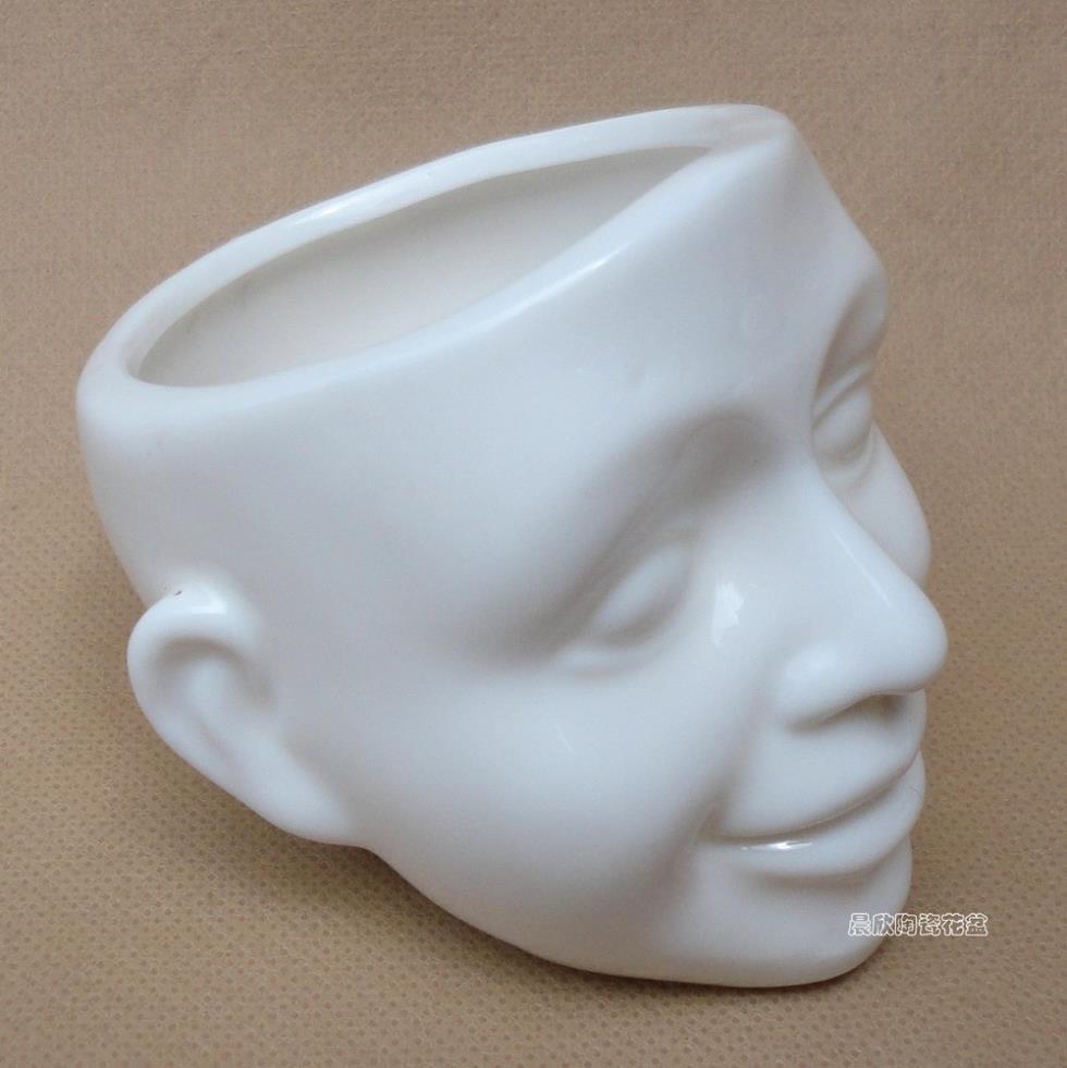 Face Plant Pot Part - 45: Ceramic POTS Meaty Plant Pot Flowers Interesting Cartoon People Face ...