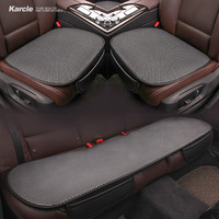 Karcle Universal Breathable Car Seat Cover Set Kit Ice Silk Cushion Cool Summer Car Chair Pad