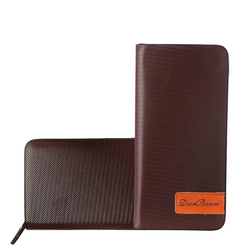 Popular Leather Men Long Business Wallet New 2016 Fashion Male Clutch Bag Zipper Solid Purse Clips