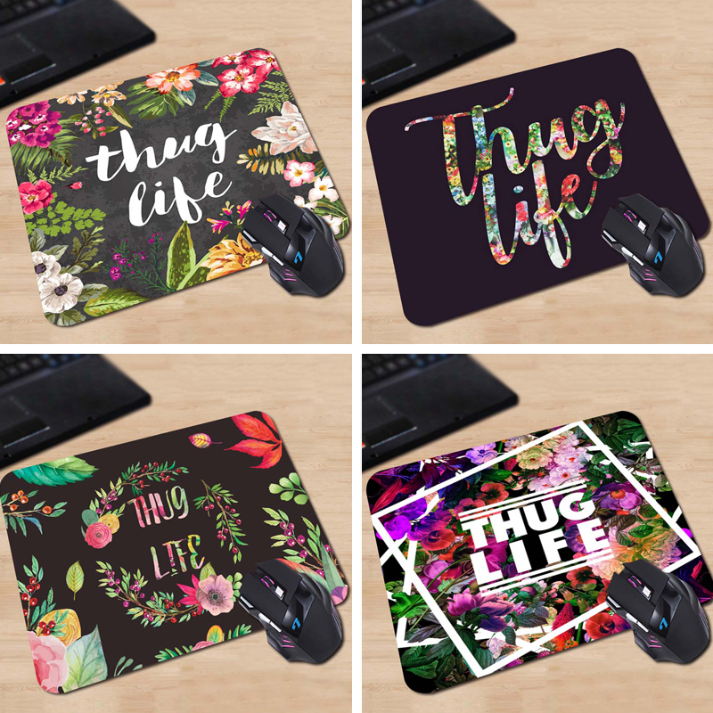 Babaite Thug Life Funny 180X220X2MM 250X290X2MM Rectangel Mouse Pad Mat Gaming Mouse Pad