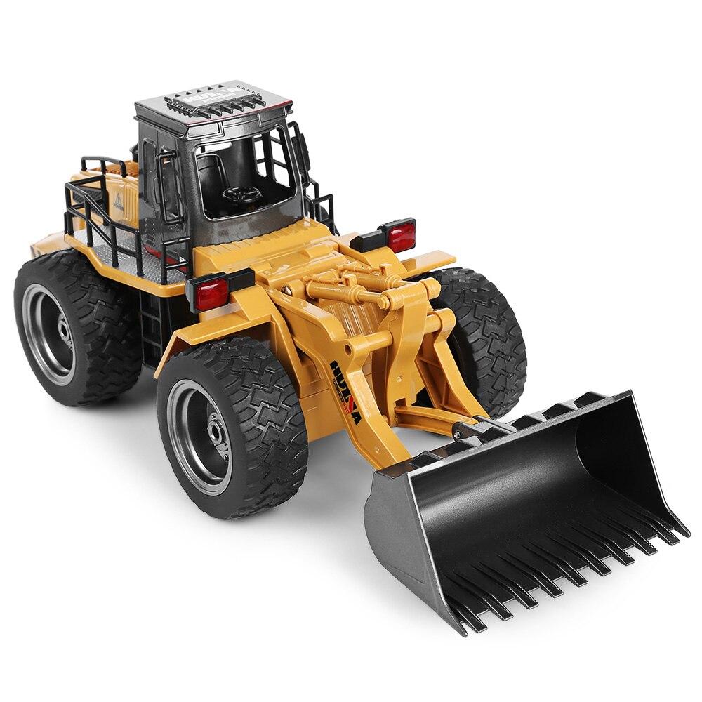 HUINA 1520 1:18 2,4 ГГц 6CH RC сплава грузовик строительная машина Радиоуправляемый бульдозер RC экскаватор большой Ёмкость загрузки анти-скольжения ш...
