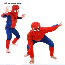 Halloween Children Performance Serve - Superman Bat Chivalrous Suit Highest Quality Hero Spider Clothing