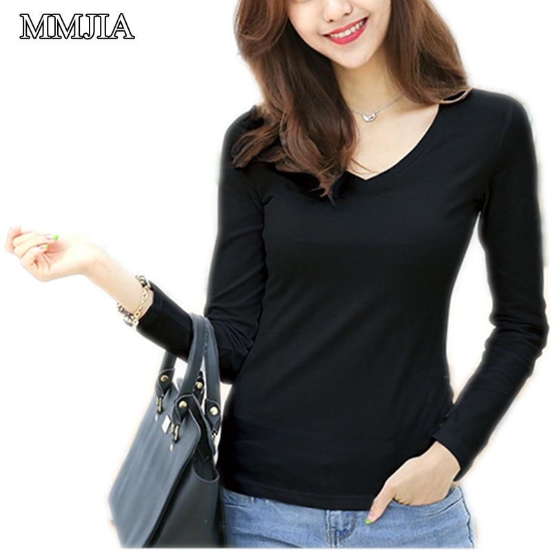 Pluss suurus naised pluus uus mood kevad 2018 daamid pikad varrukas V-kaelus pluusid särgid vabaajarõivaste topid Blusas Femininas
