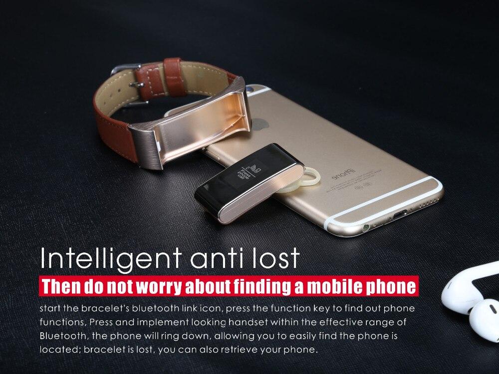 Fone De Ouvido Bluetooth Pedômetro Inteligente pulseira Sono Monitor para Android IOS