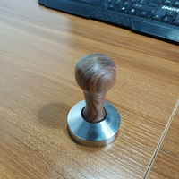 Free Shipping Tamper Wooden Handle Stainless steel base Coffee Tamper 49MM/51MM/53MM/57MM/58MM
