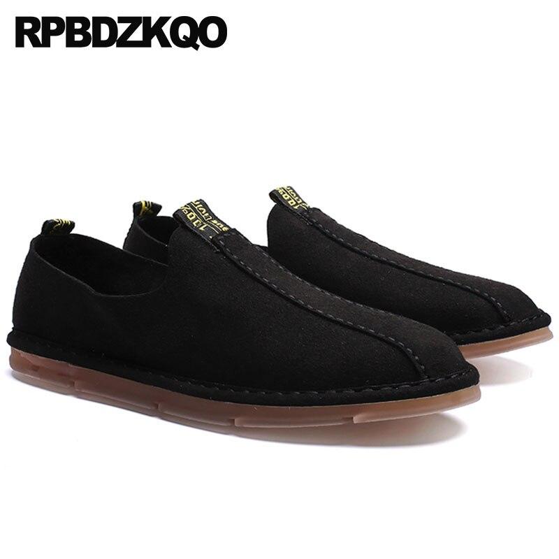 Ligera De Nuevo Cuero gris Negro En Deslizamiento negro 2019 Goma La Hombres Británico Comodidad Los Beige Verano Impermeable Primavera Zapatos Casual Estilo OIBwqI