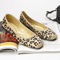 Sexy Leopard Brand Luxury Shoes Women Flats Square Toe Slip On Loafers Ladies Shoes Japanese Fashion Plus Size Women Shoes 35-40