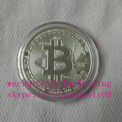Plata color bitcoin medalla regalo de btc miner mining machine