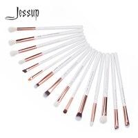 Jessup Pearl White Rose Gold Professional Makeup Brushes Set Make Up Brush Tools Kit Eye Liner
