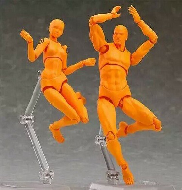 Pvc Action <font><b>Figures</b></font> Anime Archetype He She Ferrite Figma Movable Body Kun Body Chan Action <font><b>Figure</b></font> Model Toys Doll For Collectible image
