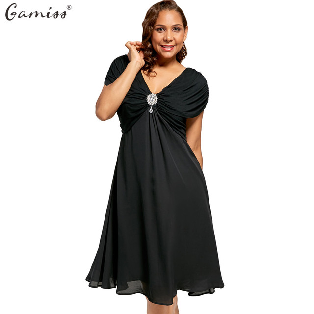 Aliexpress.com : Buy Gamiss Women Plus Size Ruched Cap Short Sleeve ...