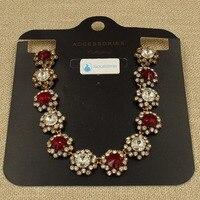 SOULTIME Bohemia Necklaces Women VintageTribe Style Flowers Women Necklaces Pendant Lady Statement Flowers Glass Necklaces