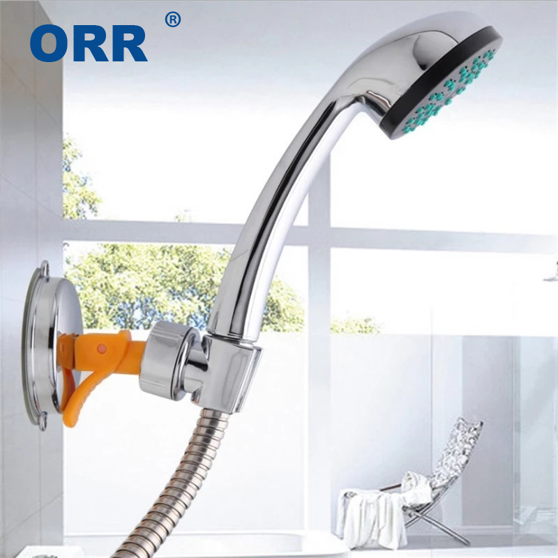 Shower holder suction cup bathroom accessories free of punch sucking disc base wall mounted ABS ORR
