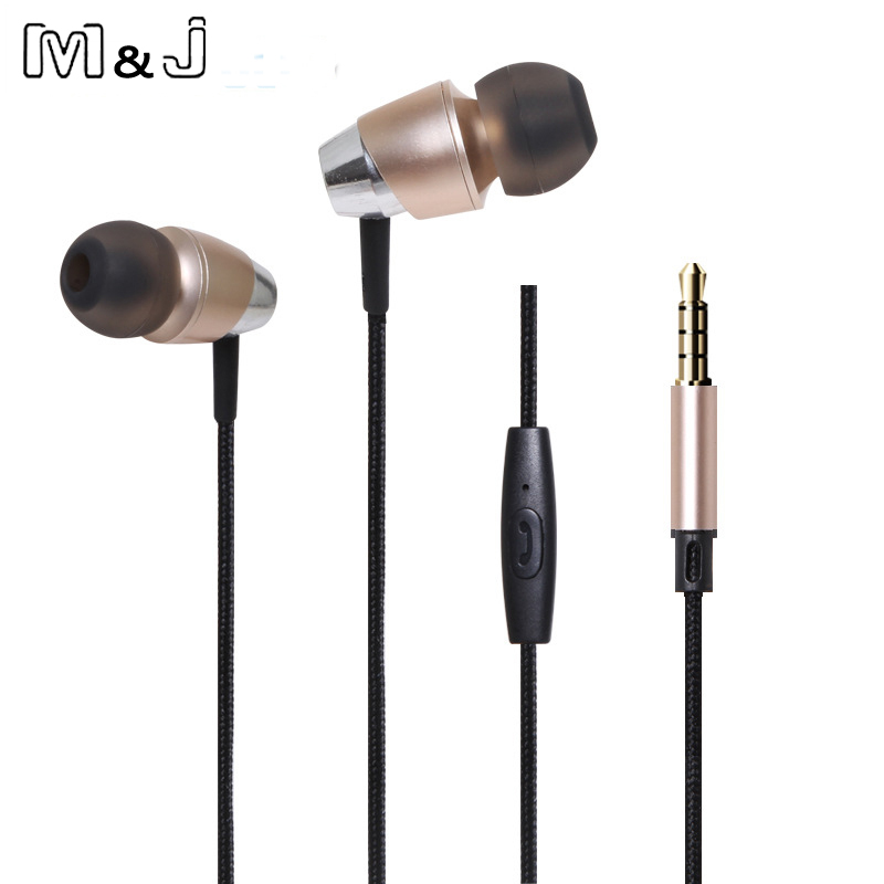 High-grade Bass Stereo Drive-by-wire in ear Sport Earphone Headsets With Switch Song and Mic For Ipad Samsung IPhone Mp3 Music image
