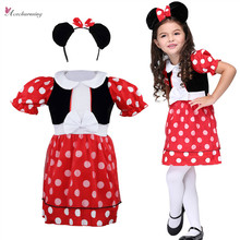 Polka Dots cosplay girls dresses Headwear Halloween Christmas Fancy Cartoon Tutu Party Cosplay role playing