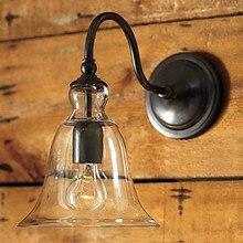 Стеклянный абажур и металлический кронштейн Лофт промышленный винтажный настенный светильник Эдисона для дома настенный светильник