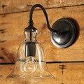 Стеклянный абажур и металлический кронштейн Лофт промышленный винтажный настенный светильник Эдисона для дома настенный светильник Беспл...