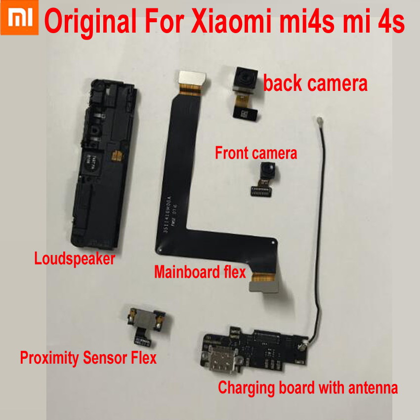 Original Front Big Back Camera Proximity Sensor Flex Cable For Xiaomi Mi 4S Mi4S Charging Main Board Flex Loudspeaker Antenna