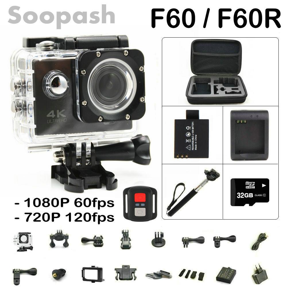 ФОТО New Arrival Bundle! Original F60/ F60R Wifi Action Camera 4K Remote Controller Extreme Mini Diving Cam Waterproof Sport Camera