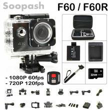 Nouvelle Arrivée Faisceau! d'origine F60/F60R Wifi Action Camera 4 K Télécommande Extrême Mini Plongée Cam Étanche Sport Caméra