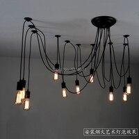 10 Arm Edison Chandelier Different Holders Filament Pendant Lamps Vintage Lamp Free Shipping