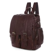 Maxdol Good Quality Vintage 100% Guarantee Real Genuine Leather Cowhide Unisex Women Men's Backpacks Travel Bags #M7123