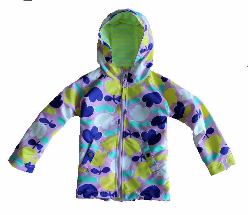 93ee21cc20d6c UK Original Mini BODEN Children's Jacket, Colorful Flower Girls Showerproof  Windbreaker, Kids Warm Cheerful Christmas Overcoat