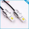 2 шт. H3 светодиодные лампы COB Chip White 1500LM Автомобильные светодиодные фары Противотуманные фары автомобильные лампы 9 ~ 32V 6000K
