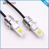 2 pces h3 lâmpada led cob chip branco 1500lm carro luzes led nevoeiro cabeça lâmpada auto 9 32 32 v 6000 k|Lâmpadas do farol do carro (LED)| |  -