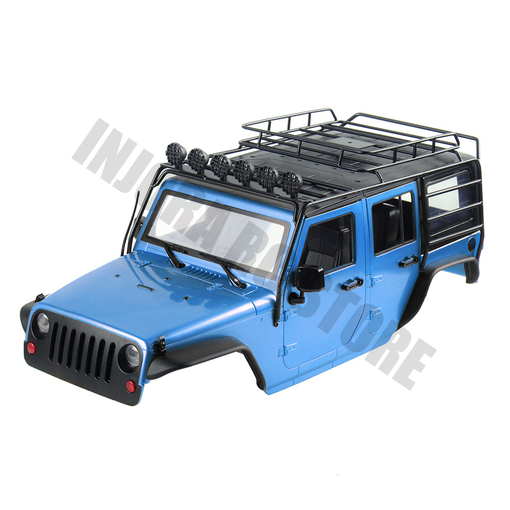 INJORA 7 Color Available 313mm Wheelbase Body Shell+ Roll Cage for 1/10 RC Crawler Jeep Wrangler Axial SCX10 SCX10 II 90046-in Parts & Accessories from Toys & Hobbies    3