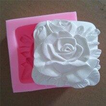 3D роуз торт плесень мыло формы силиконовые формы силиконовые мыло формы свеча плесени