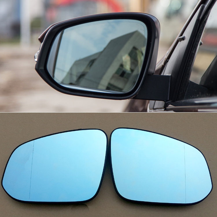 Ipoboo 2pcs New Power Heated w/Turn Signal Side View Mirror Blue Glasses For Toyota RAV4