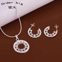 S621 // Wholesale Factory Price Necklace Earrin sets, hot sale fashion Popular 925 jewelry Chain silver plated sets
