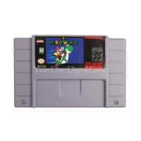 Nintendo SFC SNES Video Game Cartridge Console Card Super Mario World US English Language Version