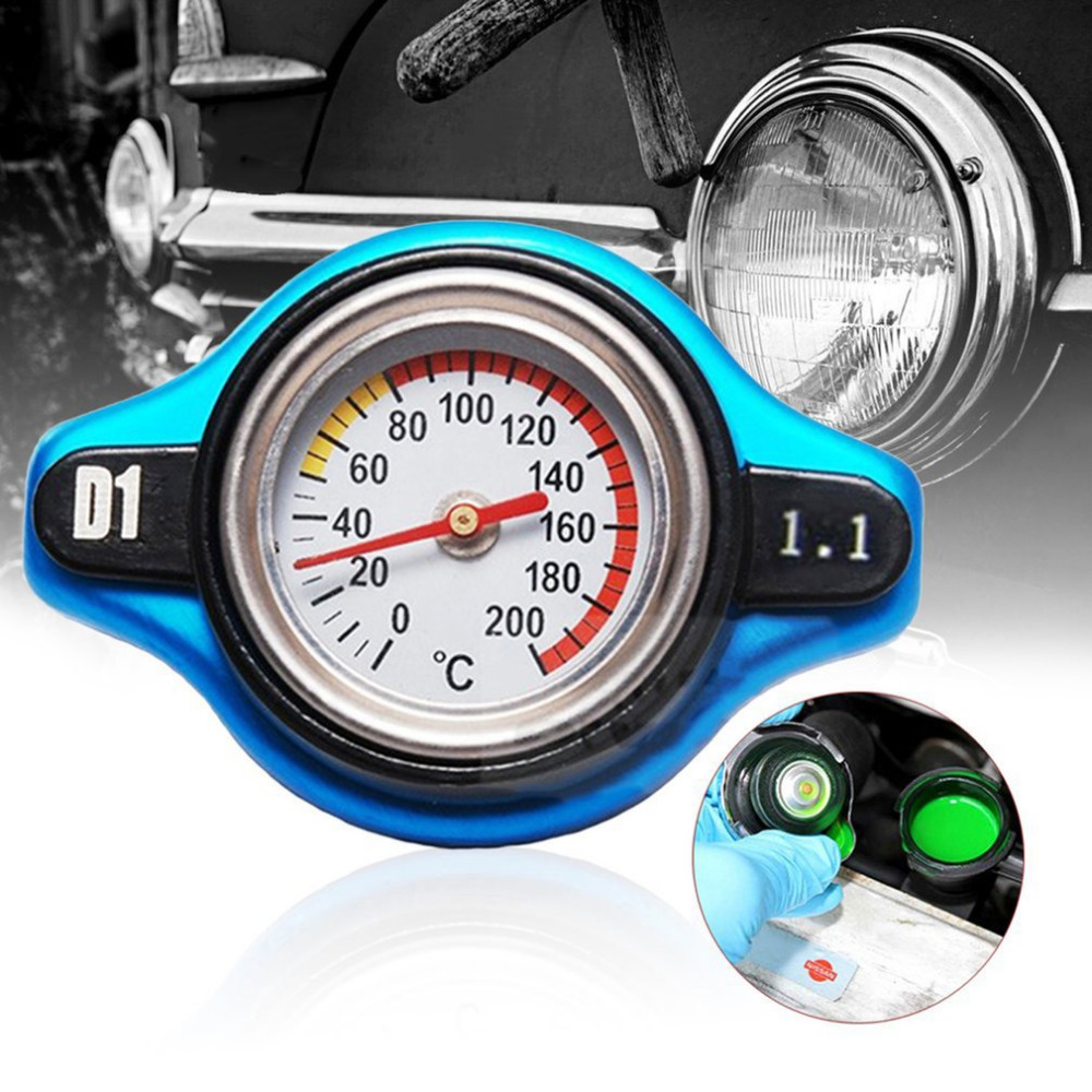 Newest 6.5*4.5*4.1cm 0.9bar/1.1bar Car Radiator Cap with Water Temperature Gauge For Car Refitting Car Accessories Hot Selling