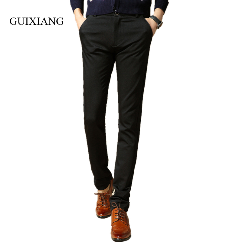 2017 New spring and autumn style men's long pants fashion leisure European and American style solid slim men trousers size 28-36