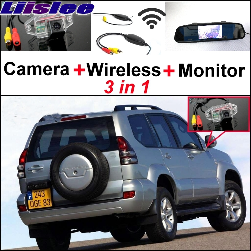 Liislee Special Camera + Wireless Receiver + Mirror Monitor Parking System For TOYOTA Land Cruiser Prado J90 J120 J150 1996~2017|monitoring camera wireless|camera land cruiser|camera for parking - title=