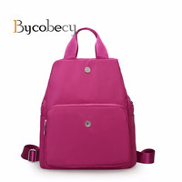 Bycobecy Three Type Waterproof Nylon Back Pack Women Travel Female Shopping School Back Bag Laptop Bag Teenager Girls Hotsale